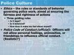 police culture42