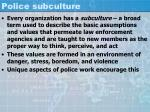police subculture