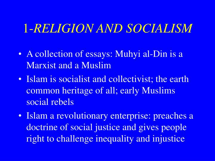 1 religion and socialism