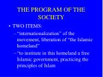 the program of the society