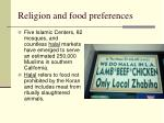 religion and food preferences