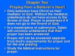 chapter two praying from a believer s heart