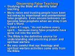 discerning false teaching
