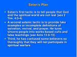 satan s plan