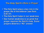 the holy spirit s role in prayer