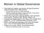 women in global governance