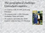 the geographical challenge unreached countries