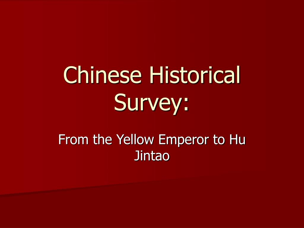 chinese historical survey l.