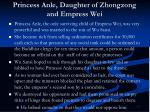 princess anle daughter of zhongzong and empress wei