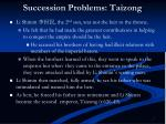 succession problems taizong