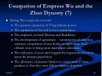 usurpation of empress wu and the zhao dynasty 7