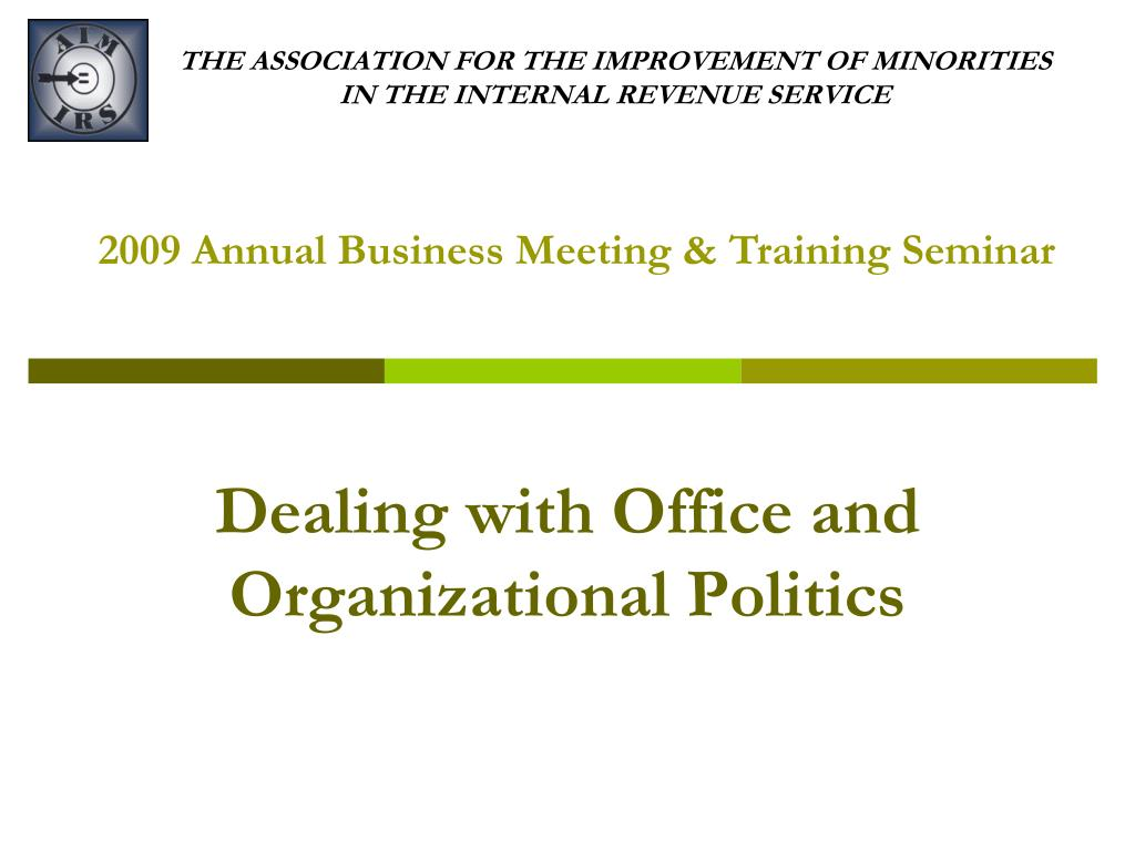 the association for the improvement of minorities in the internal revenue service l.
