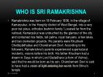 who is sri ramakrishna