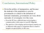conclusions international policy