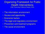organizing framework for public health interventions iom preventing childhood obesity 2005