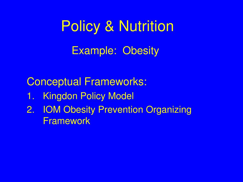 policy nutrition l.