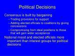 political decisions