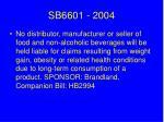 sb6601 2004