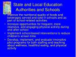 state and local education authorities and schools