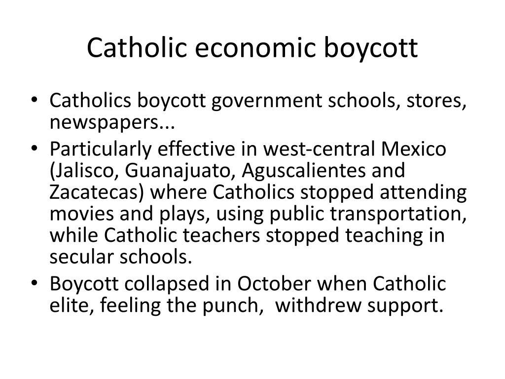 Catholic economic boycott