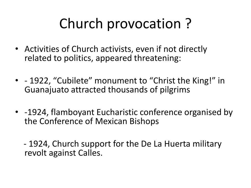 Church provocation ?