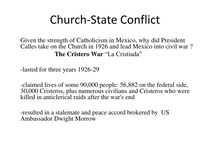 Church state conflict