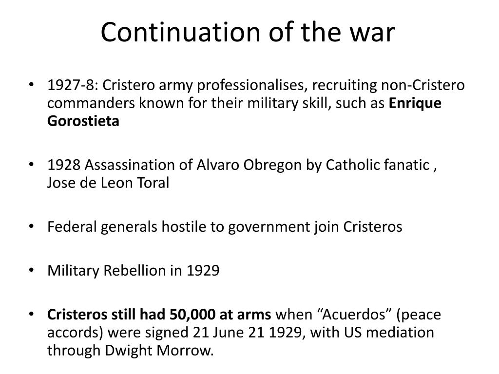 Continuation of the war