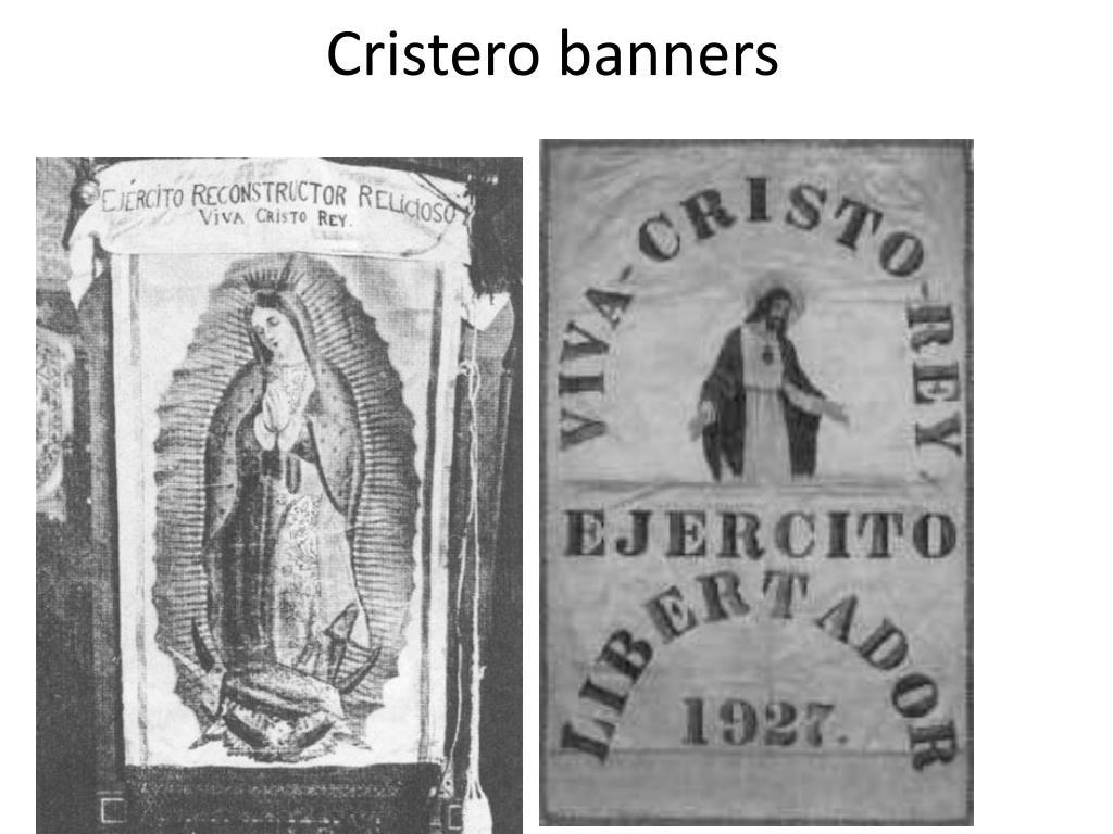 Cristero banners