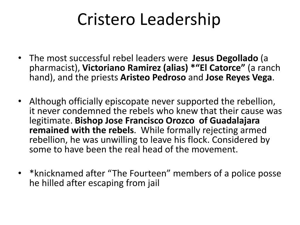 Cristero Leadership