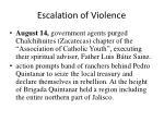 escalation of violence45