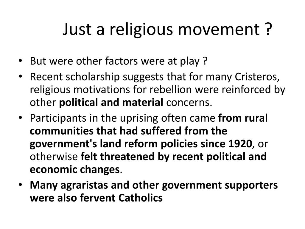 Just a religious movement ?