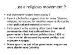 just a religious movement