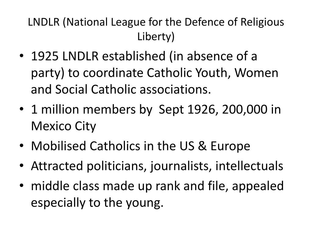 LNDLR (National League for the Defence of Religious Liberty)