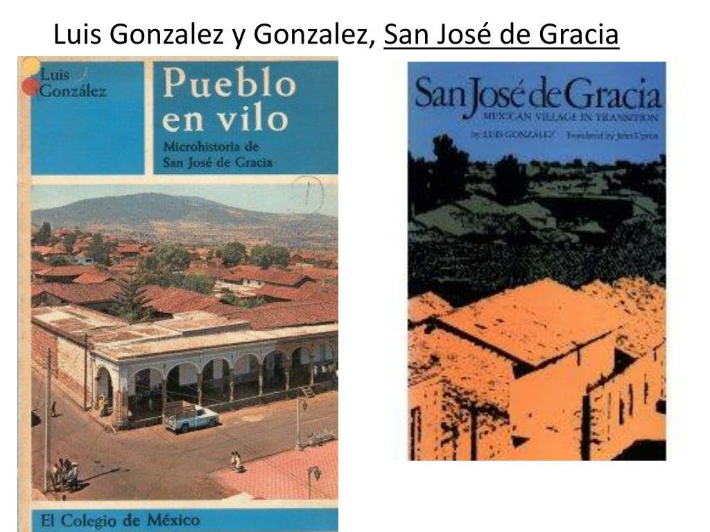 Luis Gonzalez y Gonzalez,