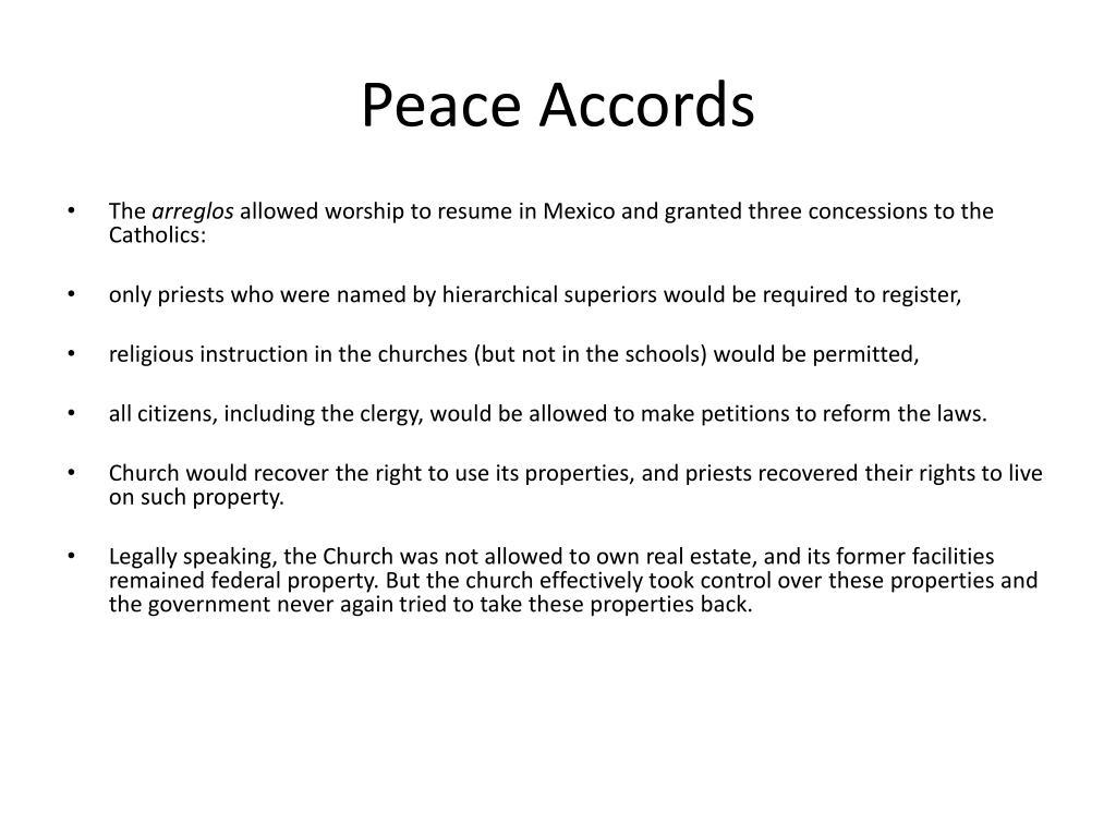 Peace Accords