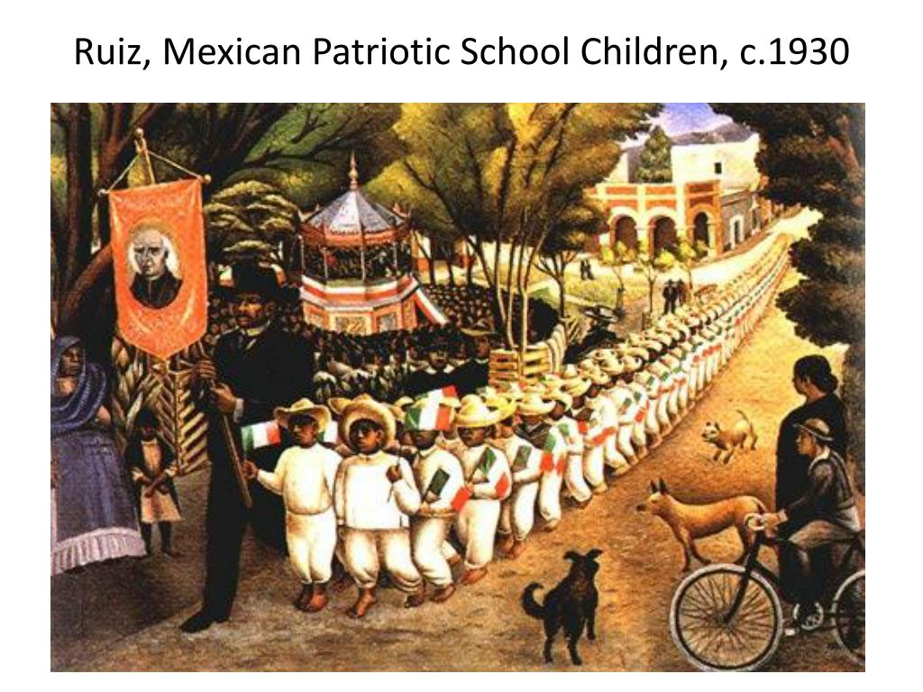 Ruiz, Mexican Patriotic School Children, c.1930