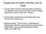 suspension of public worship july 31 1926