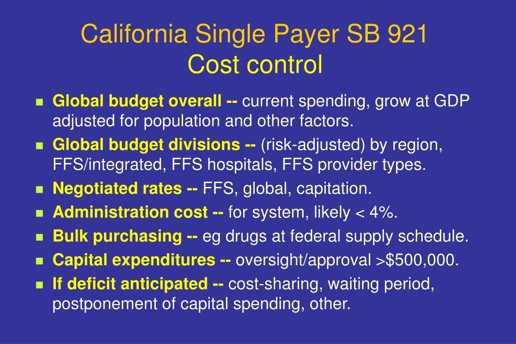 California Single Payer SB 921