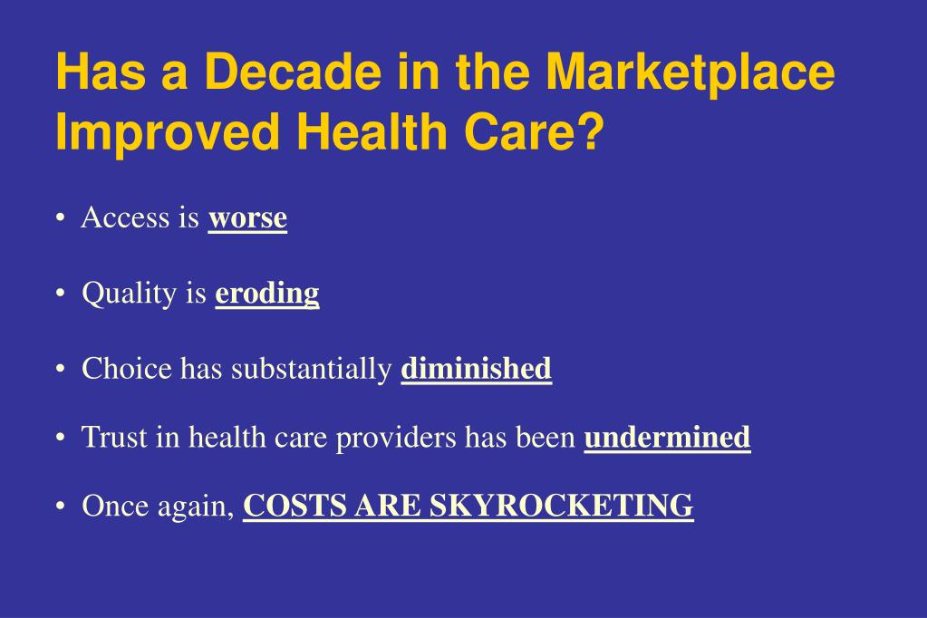 Has a Decade in the Marketplace Improved Health Care?