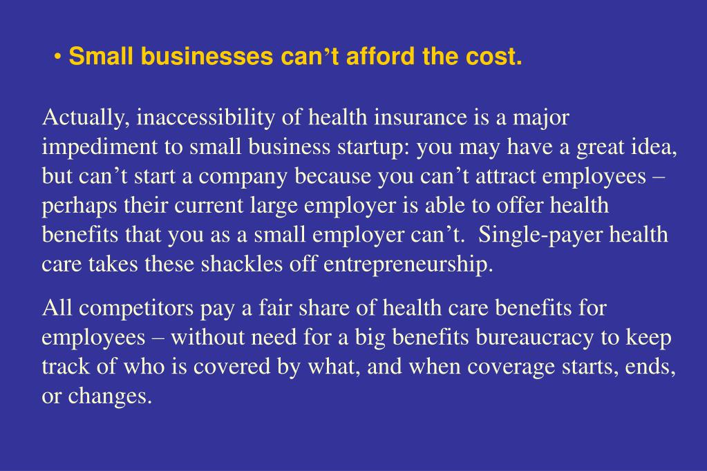 Small businesses can