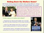 rolling back the welfare state