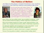 the politics of welfare