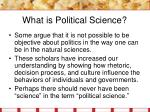 what is political science14