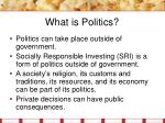 what is politics10