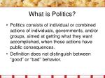what is politics8