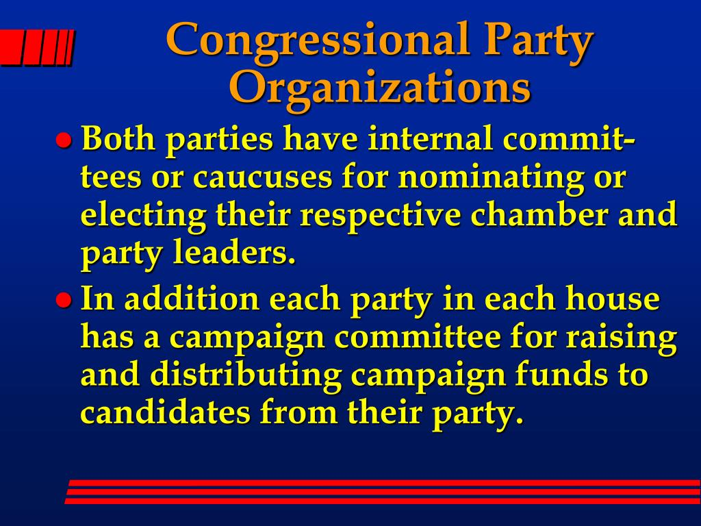 Congressional Party Organizations