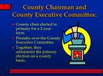 county chairman and county executive committee