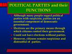political parties and their functions