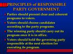 principles of responsible party government