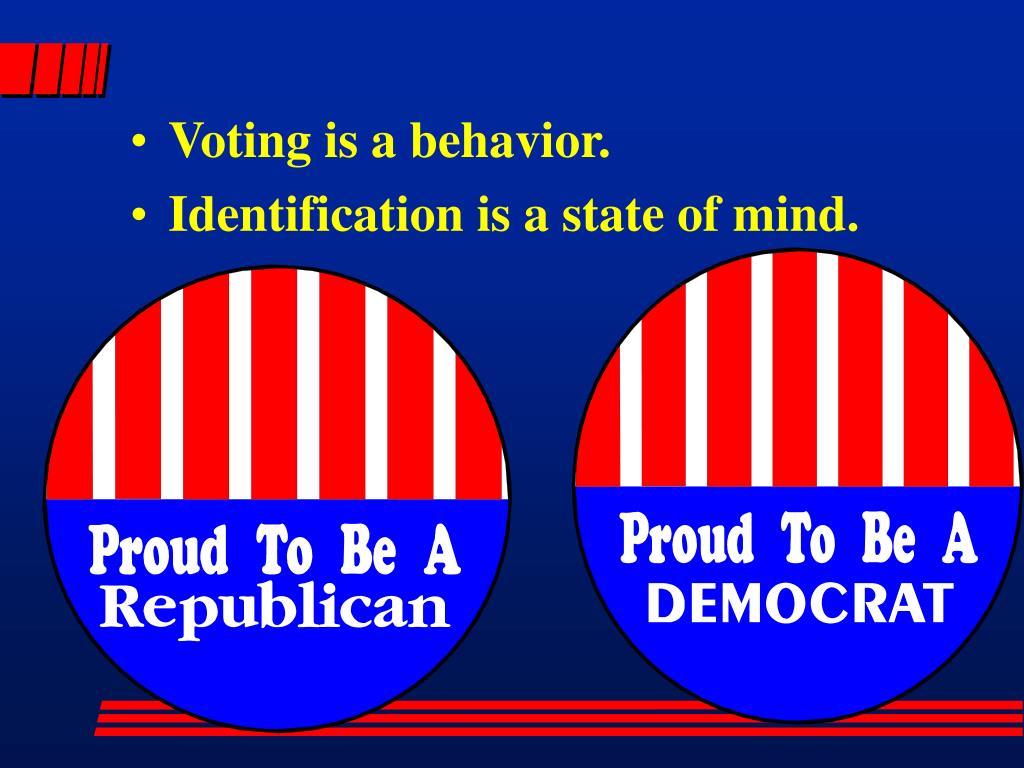 Voting is a behavior.